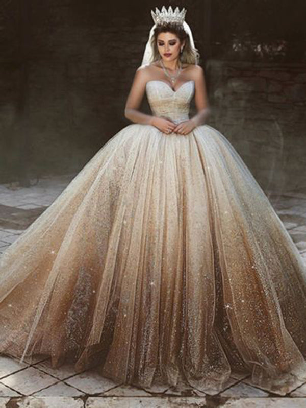 Wedding Dress Plus Size.Ball Gown Princess Wedding Dress Sweetheart Sequins Plus Size Wedding Dress Vb4161