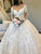 Ball Gown Ivory Wedding Dress Long Sleeve Vintage Plus Size Wedding Dress # VB4165