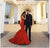 Mermaid Red Prom Dress Plus Size Sweetheart Satin Prom Dress # VB4182