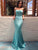 Chic Mermaid Prom Dress Sexy Long Spaghetti Straps Cheap Prom Dress # VB4208