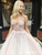 Ball Gown Pink Prom Dress Plus Size V Neck Tulle Prom Dress # VB4209