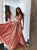 Chic Pink Prom Dress Chiffon A Line Cheap Spaghetti Straps Prom Dress # VB4233