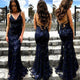 Mermaid Sexy Prom Dress Vintage Backless Lace Prom Dress # VB4250