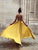 Yellow Chiffon Prom Dress Cheap Long Halter Prom Dress # VB4271