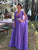 Chic V Neck Prom Dress Cheap Chiffon V Neck Lavender Prom Dress # VB4277