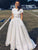 Two Piece Satin Wedding Dress Cheap Plus Size Ivory Wedding Dress # VB4303