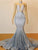 Mermaid Sequins Prom Dress Sexy Silver African Prom Dress # VB4307