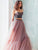 Two Piece Sweetheart Prom Dress Cheap Long Tulle A Line Prom Dress # VB4308