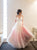 Chic Ombre Prom Dress Long Cheap A Line African Prom Dress # VB4512