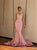 Mermaid Pink Prom Dress Sexy Backless African Prom Dress # VB4522