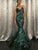 Mermaid Green Prom Dress Sequins Sexy Long African Prom Dress # VB4534