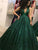Chic Green Prom Dress Ball Gown Sequins V neck Prom Dress # VB4558