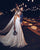 Chic Ivory Wedding Dresses Tulle Cheap Beach Spaghetti Straps Wedding Dresses VB4565