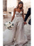 Ivory A Line Wedding Dresses Tulle Cheap Beach Lace Wedding Dresses VB4572