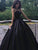 Ball Gown Black Prom Dress Cheap Long Plus Size Prom Dress # VB4581