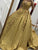 Ball Gown Gold Prom Dress Plus Size Vintage Lace Prom Dress # VB4583
