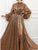 Chic Gold Prom Dress Long Sleeve Sequins Cheap Prom Dress # VB4606