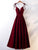 Burgundy A Line Prom Dress Spaghetti Straps Cheap Prom Dress # VB4617
