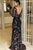 Black Lace Prom Dress Cheap African Sheath Long Sleeve Prom Dress # VB4674