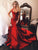 Mermaid Red Prom Dress Cheap African Satin Prom Dress # VB4676