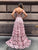 Pink Lace Prom Dress Off The Shoulder Vintage Prom Dress # VB4693