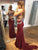 Two Piece Mermaid Prom Dress Red African Prom Dress # VB4709
