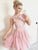 Chic Pink Homecoming Dress Cheap Party Chiffon Homecoming Dress #VB4711