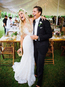 Ivory Lace Cheap Wedding Dress Mermaid Cheap African Wedding Dress # VB4720