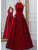 Satin Red Prom Dress African A Line Cheap Long Prom Dress # VB4727