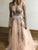 Pink Long Sleeve Prom Dress Cheap Tulle A Line Prom Dress # VB4802