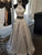 Two Piece Vintage Prom Dress Silver Lace Cheap Prom Dress # VB4808