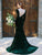 Chic Green Mermaid Prom Dress Cheap African Long Sleeve Prom Dress # VB4814
