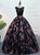 Ball Gown Black Prom Dress Flower Lace African Prom Dress # VB4815