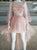 Pink Long Sleeve Homecoming Dress Party Asymmetrical Custome Homecoming Dress #VB4821