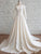 Chic Long Sleeve Wedding Dress Ivory Satin Cheap Wedding Dress # VB4827
