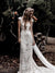 Vintage Lace Wedding Dress Ivory Sexy African Wedding Dress # VB4849