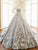 Ball Gown Vintage Prom Dress African Fashion Silver Prom Dress # VB4855