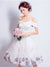 Off The Shoulder White Homecoming Dress Cheap Handmade Homecoming Dress #VB4861