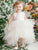 Ivory Asymmetrical Flower Girl Dresses Cute Cheap Tulle Flower Girl Dresses #VB4875