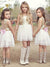 A Line Sequins Flower Girl Dresses Cheap Chiffon Short Child Dresses #VB4876
