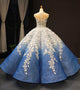 Ball Gown Vintage Prom Dress Ombre Plus Size African Evening Dress # VB4890
