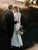 Ivory Long Sleeve Wedding Dress Bateau Backless Cheap Wedding Dress # VB4902