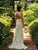 Sheath African Wedding Dress Ivory Lace Long Wedding Dress # VB4907
