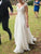 Chiffon Beach Wedding Dresses Ivory Cheap Short Sleeve Wedding Dresses #VB4927