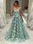 Lace Green Prom Dress Vintage Unique Long Prom Dress #VB4942