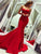 Mermaid Red Prom Dress Cheap Sweetheart Sexy Long Prom Dress #VB4956