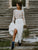 Two Piece Lace Wedding Dress Ivory Long Sleeve Fashion Wedding Dress #VB4959