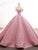 Ball Gown Pink Prom Dress Vintage Off The Shoulder Plus Size Prom Dress #VB4977