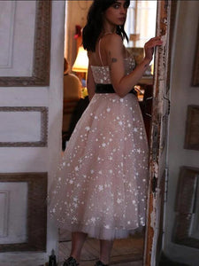 Pearl Pink Lace Homecoming Dress A Line Cheap Short Prom Drsess VB4991
