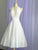 Chiffon Ivory Homecoming Dress A Line Cheap Halter Short Prom Drsess VB5018